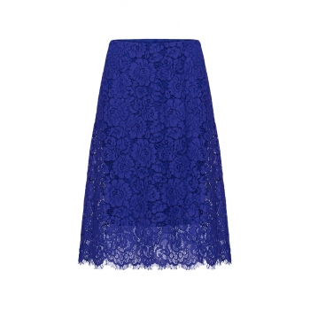 Lace skirt bright blue
