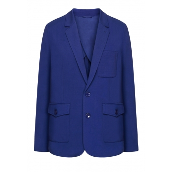 Mens jersey blazer dark blue