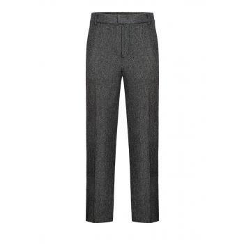 Mens tweed trousers grey melange