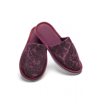 Womens home slippers bordeaux