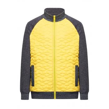 167B2401 Trikotāžas jaka zēnam sinepju krāsā