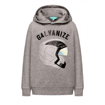 167B2503 Trikotāžas džemperis zēnam pelēkas melanžas krāsā ar apdruku