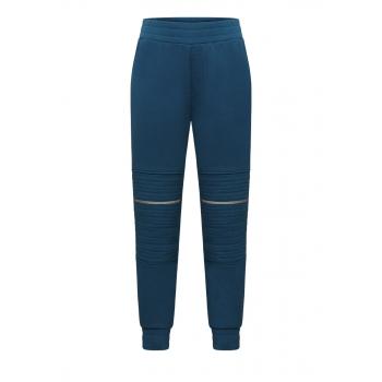 Утепленные трикотажные брюки для мальчика цвет глубокий бирюзовый