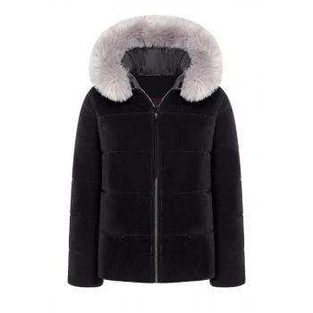 Утепленная куртка с экомехом цвет черный