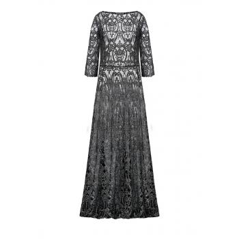 Длинное полупрозрачное платье цвет черный
