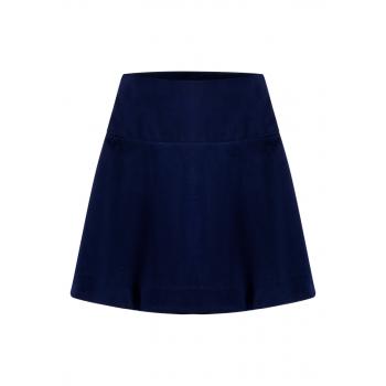 Укороченная юбка цвет темносиний