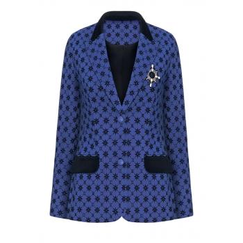 Jacket bright blue