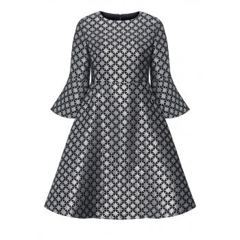 Платье цвет серебристый