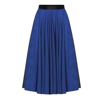 Spódnica wielowarstwowa kolor jaskrawy niebieski