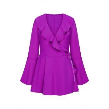 Блузка с воланами цвет фуксия