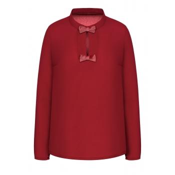 Блузка цвет темнокрасный