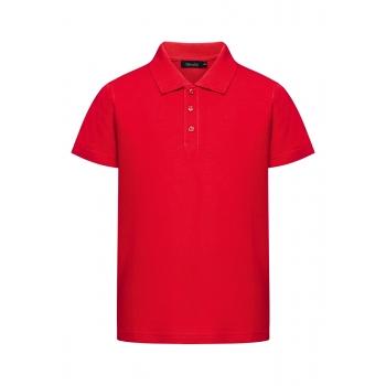 Dzianinowe polo pique dla chłopca kolor czerwony