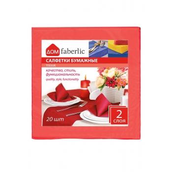 Салфетки бумажные однотонные красный