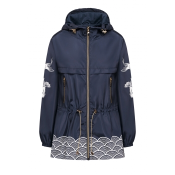 Hooded Windbreaker dark blue