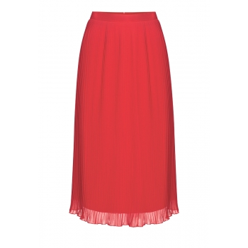 Pleated Skirt coral