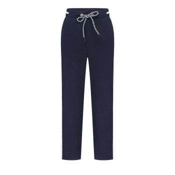 Boys Piped Trousers dark blue