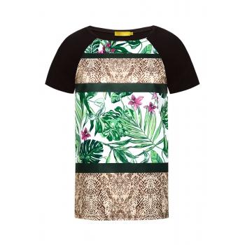 Блузка с тропическим рисунком