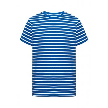 Mens striped Tshirt bright blue