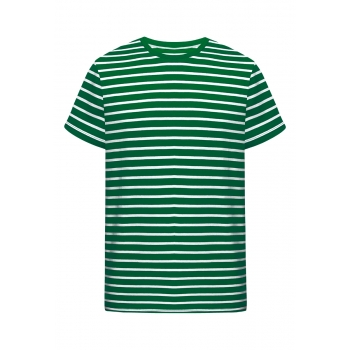 Mens Striped Tshirt green