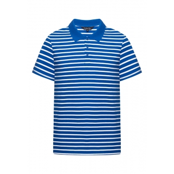 Mens Striped Polo Shirt bright blue