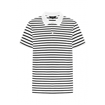 Mens Striped Polo Shirt white