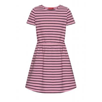 Платье в полоску для девочки цвет розовый