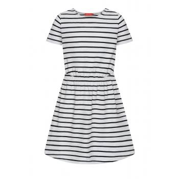 Платье в полоску для девочки цвет белый
