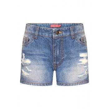 Джинсовые шорты для девочки цвет голубой