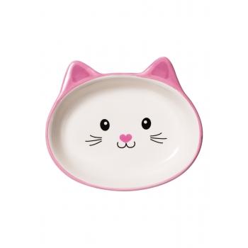 Миска для кошки розовая