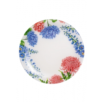 Flower Collection Glass Plate  30 cm