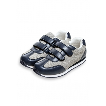 Sporta apavi zēniem Sporty pelēkās un zilās krāsas kombinācija