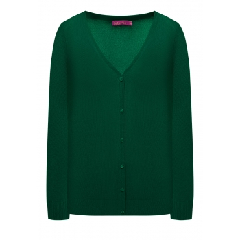 Knit Cardigan dark green