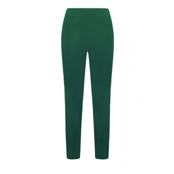 Jersey leggins dark green