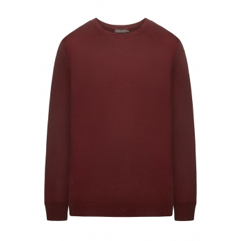 Mens Knit Jumper burgundy