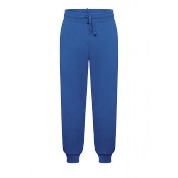 Trikotāžas bikses vīrietim spilgti zilā krāsā