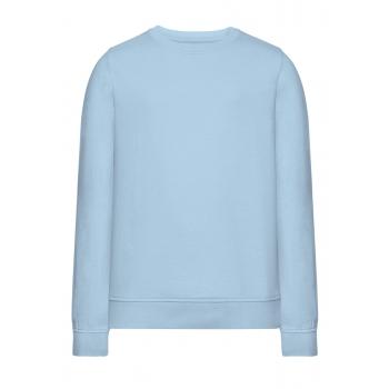 Трикотажный пуловер для девочки цвет светлоголубой