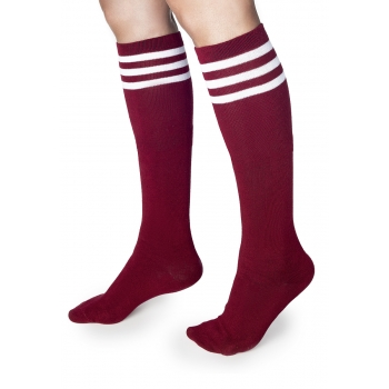 Knee socks red one size