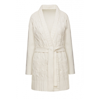 Cable Knit Cardigan milk