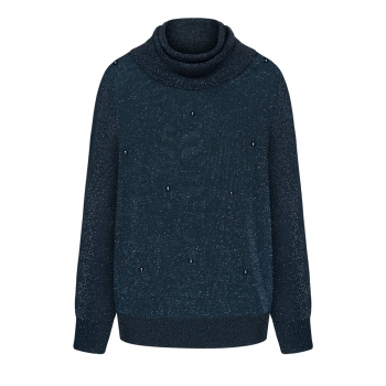 Lurex jumper dark blue