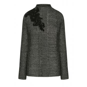 Lace Onlay Jumper black