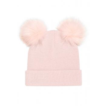 Шапка детская цвет розовый