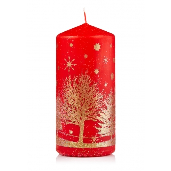 Свеча декоративная красная