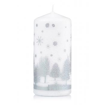Dekoratīvā svece baltā krāsā