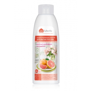 Concentrated Dishwashing Liquid with Red Grapefruit Scent