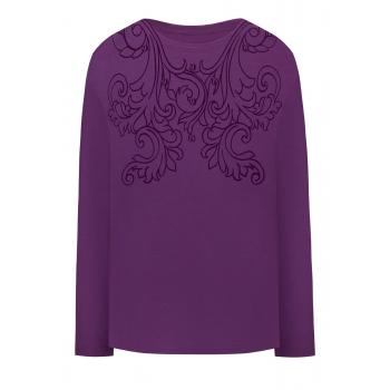 Sequin Printed Tshirt violet