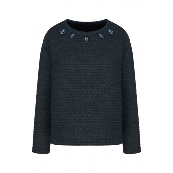 Lurex  Sequin Sweatshirt dark blue