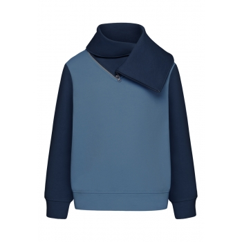 Trikotāžas džemperis zēnam spilgti zilā krāsā