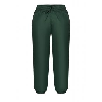 Утеплені брюки для хлопчика колір темнозелений