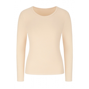 Long Sleeve Thermal Top beige melange