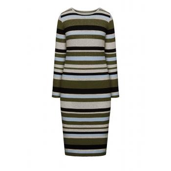 Платье в полоску мультицвет